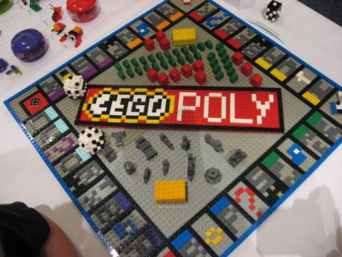 Monopoly Board made out of LEGOs