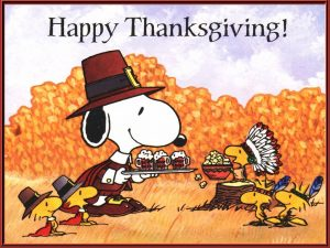 Happy Thanksgiving-Snoopy and Woodstock
