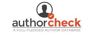 author check a full-fledged author database silhouette with check mark